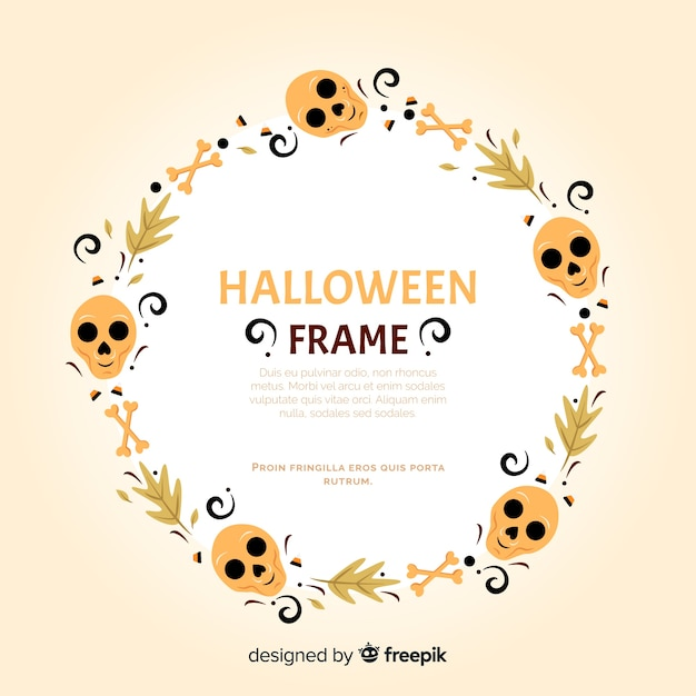 Modern halloween frame with flat design Vector | Free Download