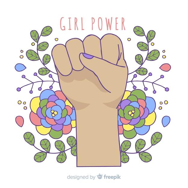 Modern hand drawn feminism concept Free Vector