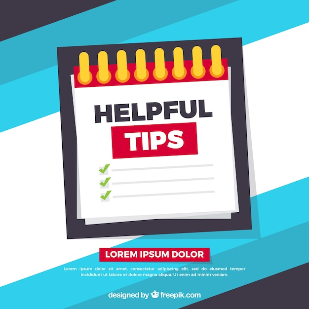 Modern helpful tips composition with flat design Free Vector