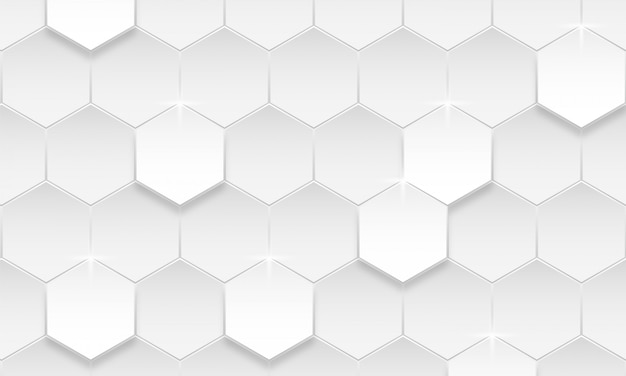 Современный шестиугольник фон, абстрактный геометрический фон Premium векторы