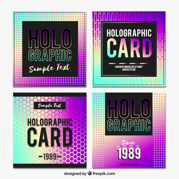 Modern holographic cards pack