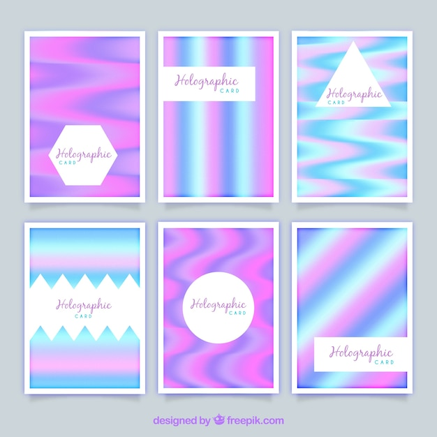 Modern holographic cards