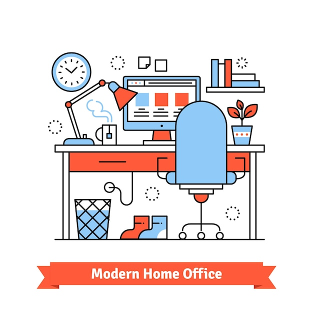 Modern Home Office Vector