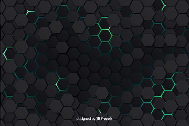 Modern honeycomb background Free Vector