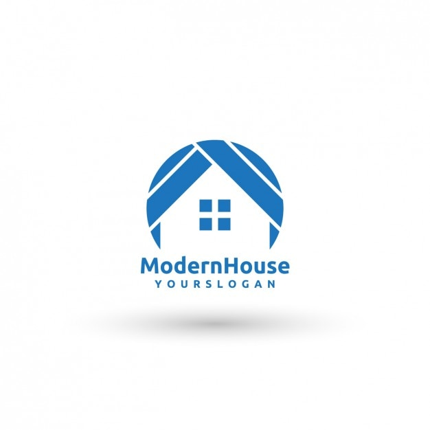 modern house logo template vector free download