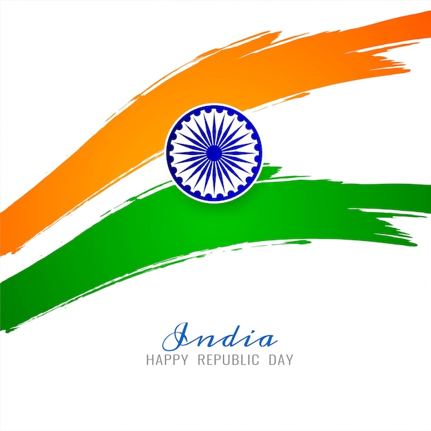 Modern indian flag theme background vector Free Vector