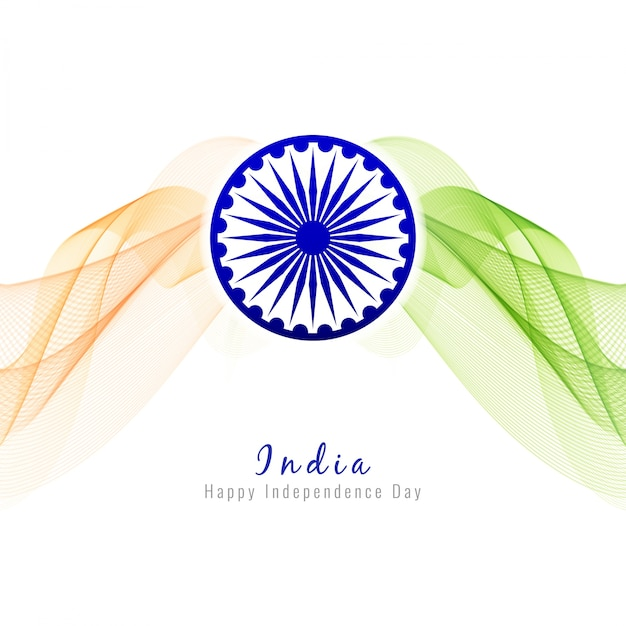 Modern indian independence day design
