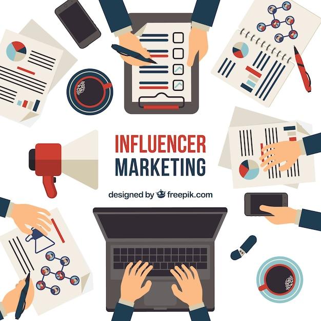 Modern influence marketing concept