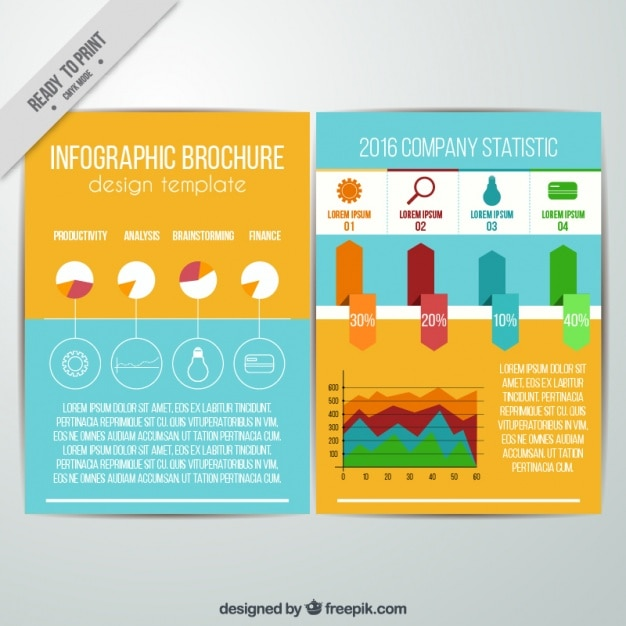 Modern infographic brochure template Vector | Free Download