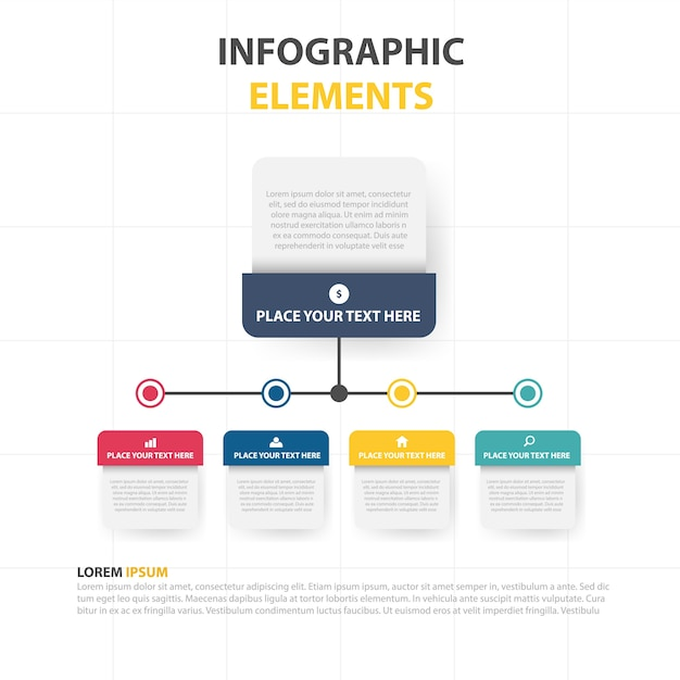 Modern infographic business template Free Vector