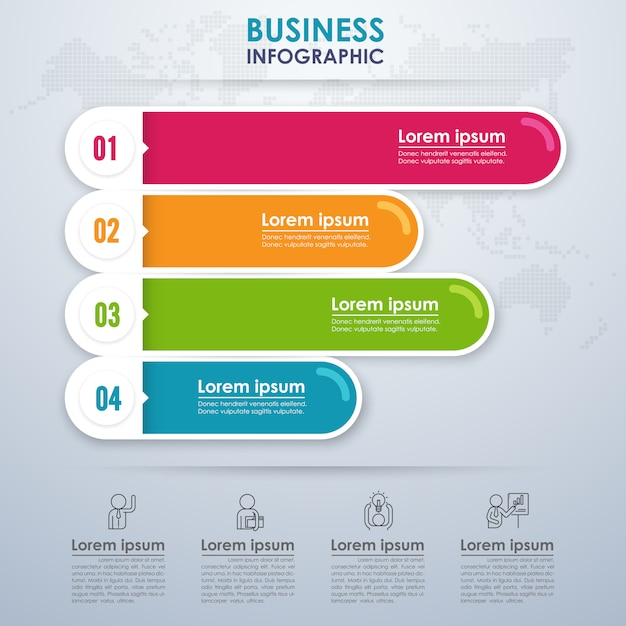Modern infographic business with four options Premium Vector