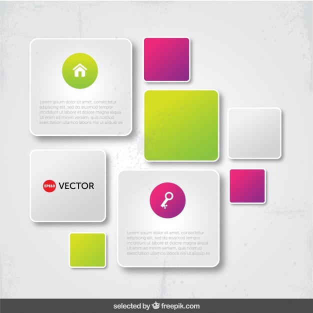 Modern Infographic Frames Vector Free Download
