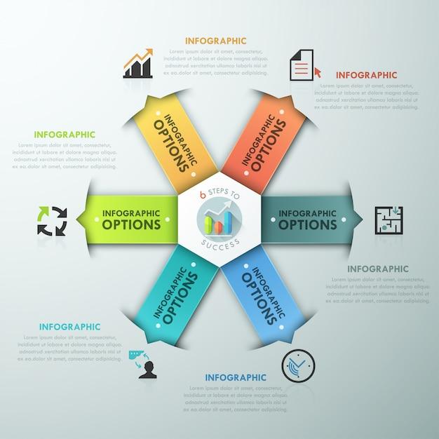 Modern infographic option banner Premium Vector