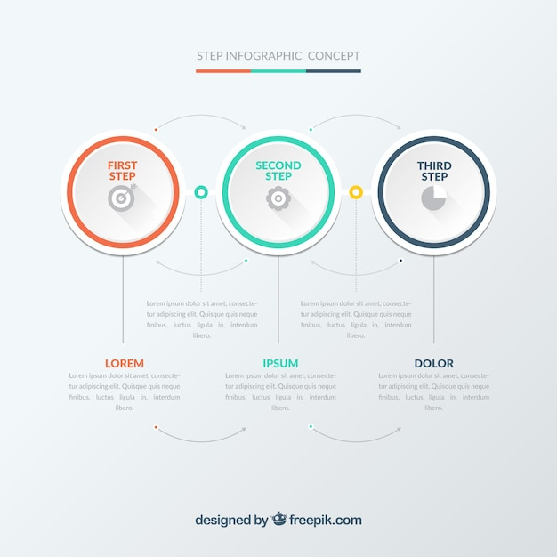 Modern infographic template Free Vector
