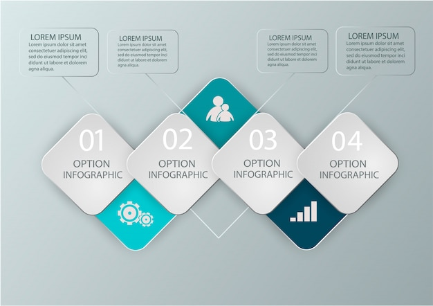Modern infographics diagram for web design, layouts, financial reports. business concept. Premium Vector