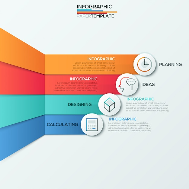 Modern infographics options banner for 4 options Premium Vector