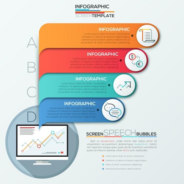 Modern infographics options banner for 4 options Premium Vector