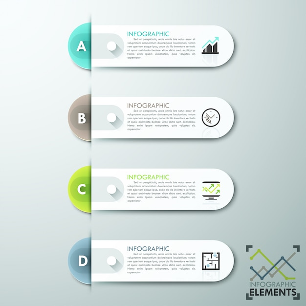 Modern infographics options banner Premium Vector