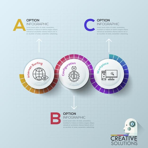 Modern infographics options template. Premium Vector