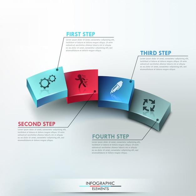 Modern infographics process template Premium Vector