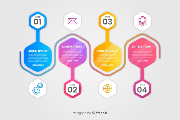 Modern infographics template design Free Vector