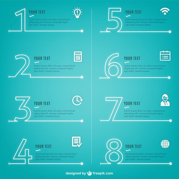 Modern inforgraphics process Free Vector