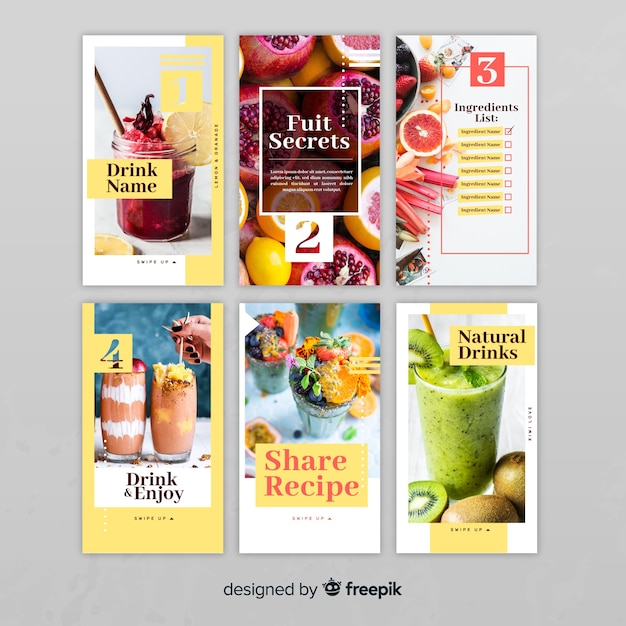 Modern instagram story template collection Vector | Free Download