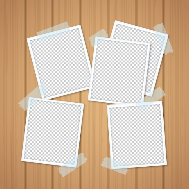Modern instant photo collage Free Vector