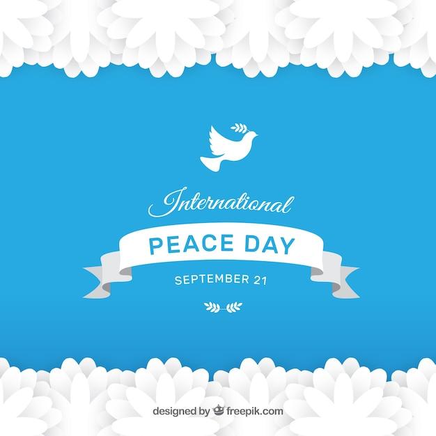 Modern international peace day backgrpund Free Vector