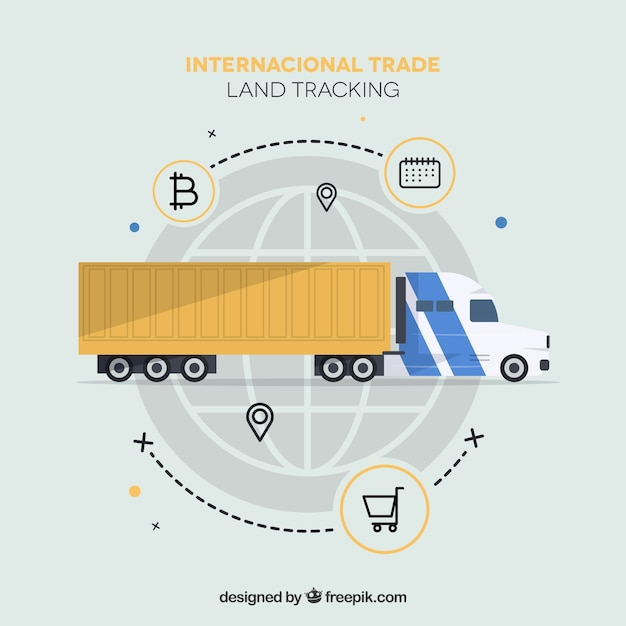 Modern international trade concept with flat design Free Vector