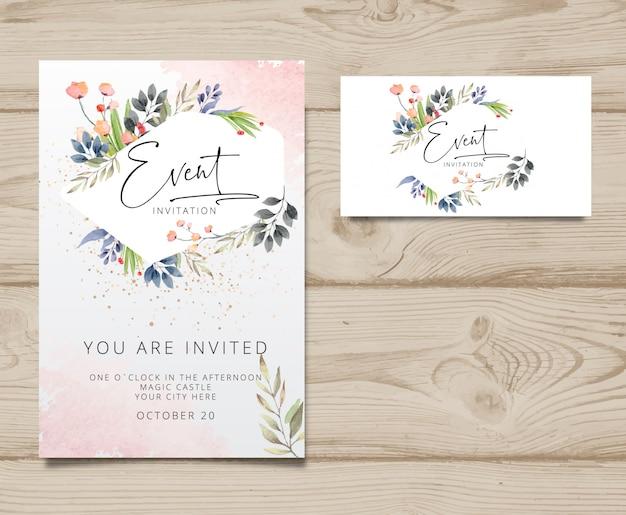 Modern invitation card Premium Vector