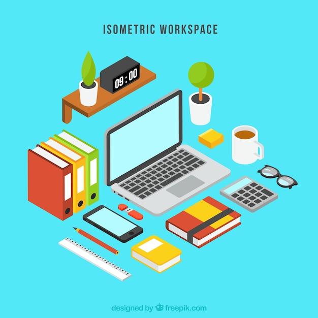 Modern isometric workspace