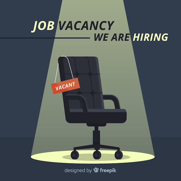 Modern job vacancy composition Free Vector
