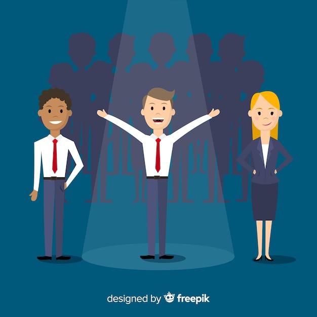 Modern job vacancy composition Free Vector