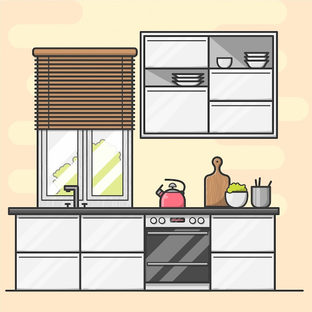 Modern Kitchen Free Vector