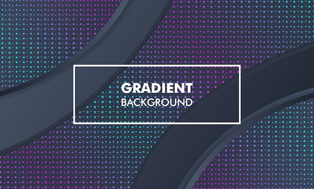 Modern landscape gradient background neon light Premium Vector