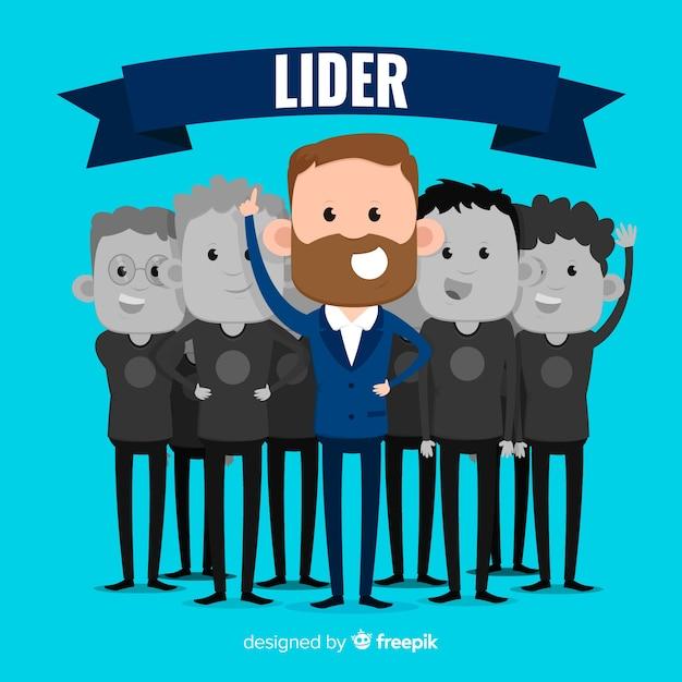 Modern leadership composition Free Vector
