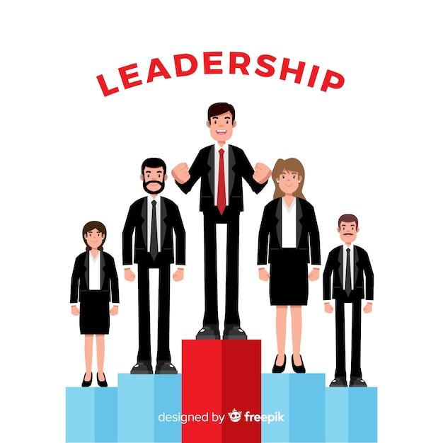 Modern leadership concept Free Vector