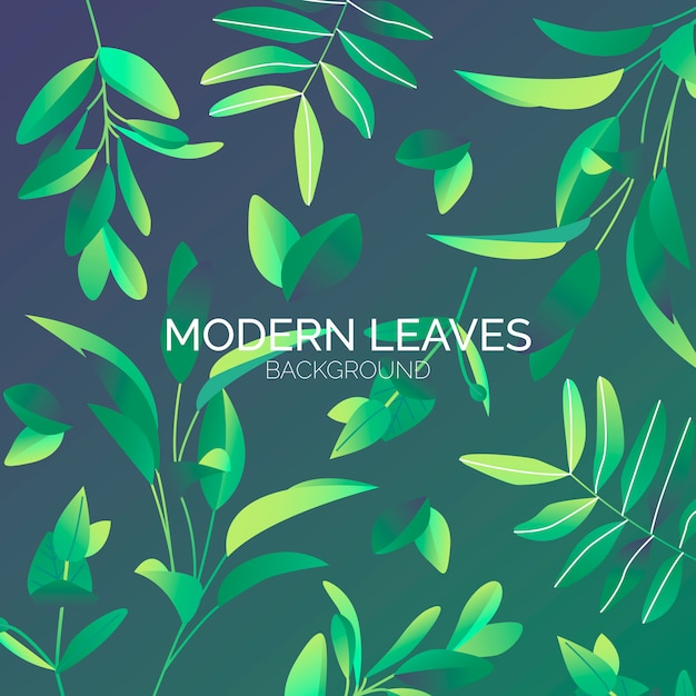 Modern Leaves Background Free Vector