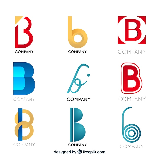 716c1cd51a0e Modern letter b logo collection Vector | Free Download