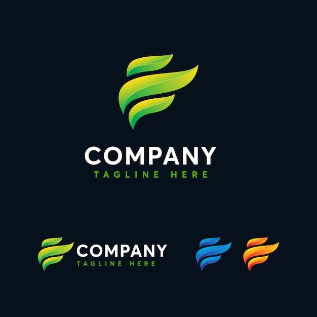 Modern letter e logo template Premium Vector