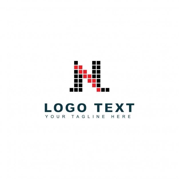 Modern letter n logo