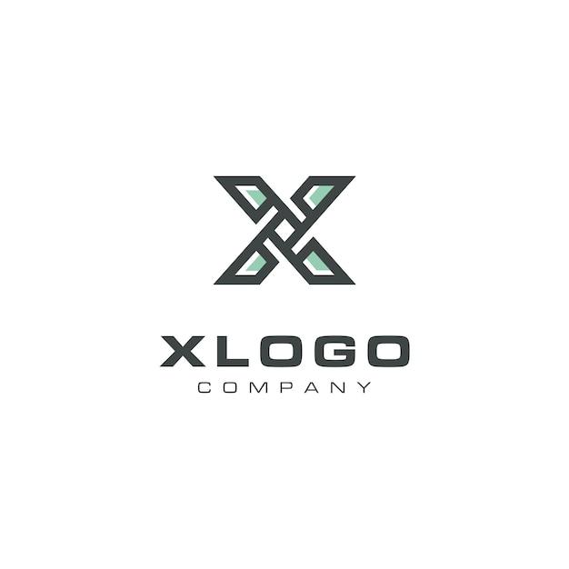 Modern letter x propellerロゴデザイン Premiumベクター