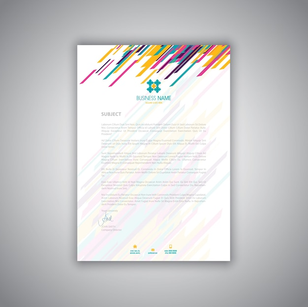 modern letterhead layout design vector free download