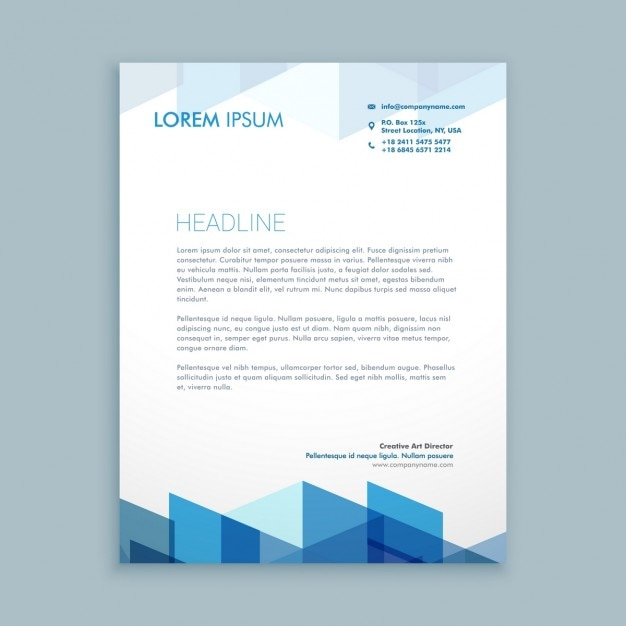 Modern Letterhead Template Vector  Free Download