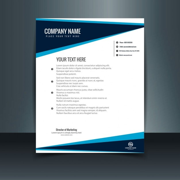 Free Vector Printable Stationery Design Template: Modern Letterhead Template Vector