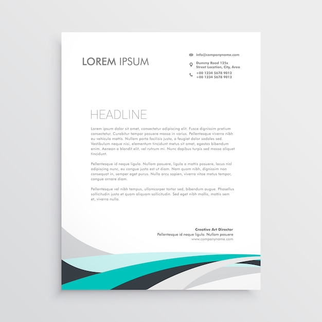Modern letterhead vector design template with blue wavy shape vector modern letterhead vector design template with blue wavy shape free vector spiritdancerdesigns Gallery