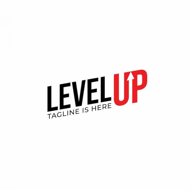 Modern level up typography logo design inspiration Premium Vector
