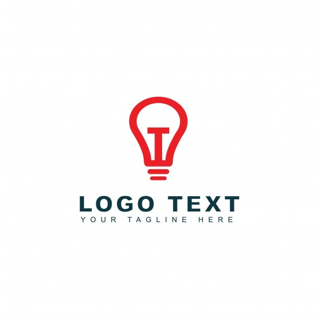 Modern light bulb logo Free Vector