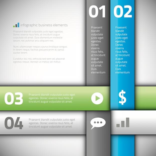 Modern line business infographics options banner vector Premium Vector